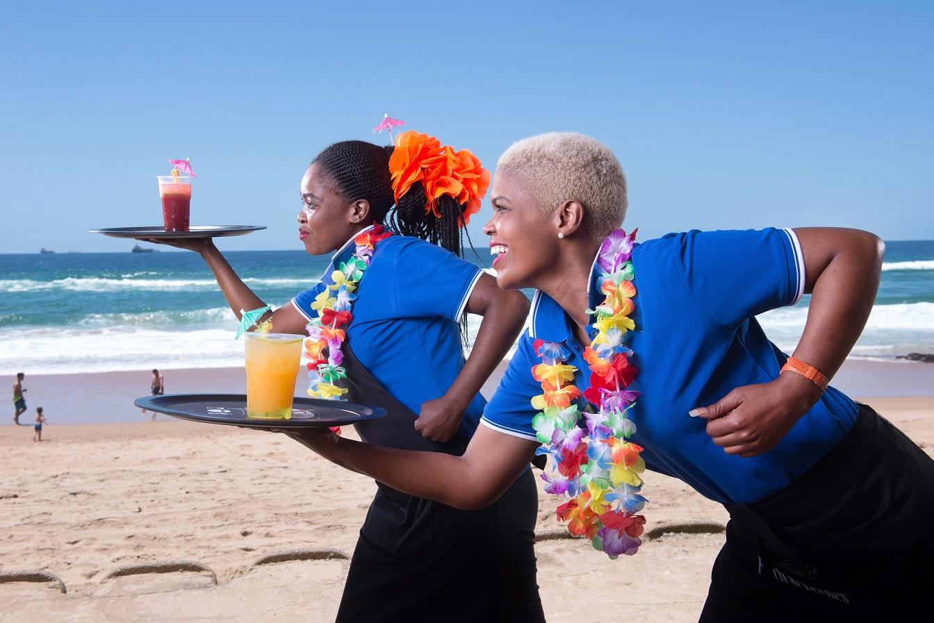 Phindile Nyembe & Samake Kubeka from Maestro at Umhlanga Sands get ready to race!